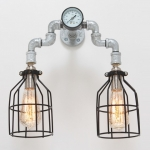 ZigZag Steampunk Wall Sconce